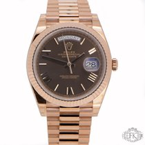 Rolex Day-Date 40 | Rose Gold Roman Numeral  Dial Day Date 40mm