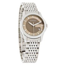 Gucci 126 G-Timeless Ladies Brown Dial Swiss Quartz Watch...