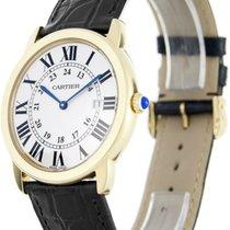 Cartier W6700455 Ronde Solo 18KY Gold Silver Dial Men's...