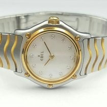 Ebel Wave 25mm 2 Tone 18k Yellow Gold/Steel Original MOP...