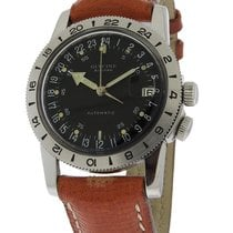 Glycine Airman Watch - Brown Leather Strap - 24 HR - Date