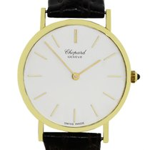 Chopard Classique 18k  Gold Brown Leather Watch