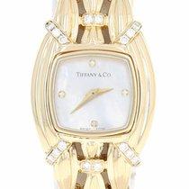 Tiffany & Co. Ladies Diamond Watch -18k Gold Swiss Quartz 1...
