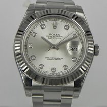 Rolex DATEJUST II 41MM SILVER DIAMOND DIAL