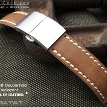 MiLTAT For Rolex 21mm Pull Up Leather Brown Watch Strap