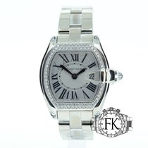 Cartier Roadster Mid-Size White Gold Original Diamond Set 36mm