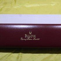 Bulova vintage watch boxes bordeaux leather