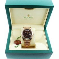 Rolex 228235 18k Rose Gold 40mm Day Date Chocolate Dial