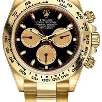 Rolex Cosmograph Daytona Yellow Gold 116508 Black Champagne...