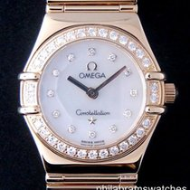 Omega Constellation Ladies Mini My Choice Yellow Gold MOP Diamond