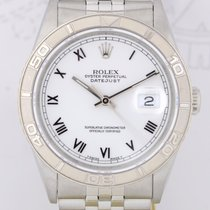 Rolex Datejust Turn-O-Graph white roman dial Jubiléband...