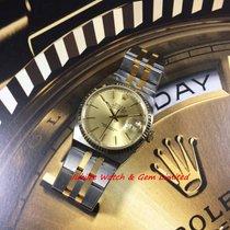 Rolex 17013 Datejust Oysterquartz Steel & Gold 36mm W Paper