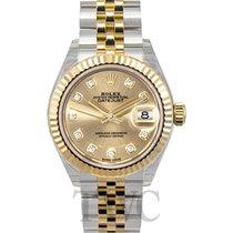 ロレックス (Rolex) Lady-Datejust 28 Champagne 18k Yellow Gold/Steel...