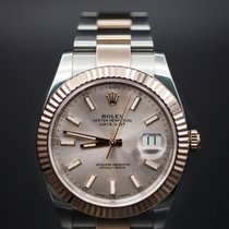 Rolex Datejust 41 Steel and Pink Gold - Fluted Bezel