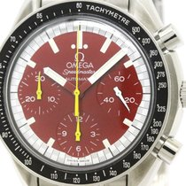 Omega Polished Omega Speedmaster Michael Schumacher Red Dial...