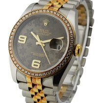 Rolex Used 116243_used_brown_silver 36mm 2-Tone Datejust with...