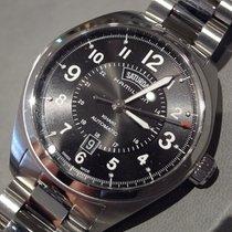 Hamilton KHAKI FIELD DAY DATE AUTO Black Steel Bracelet...