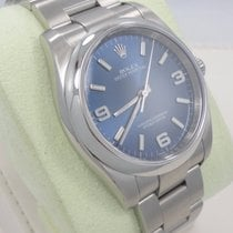 Rolex New Style Oyster Perpetual Blue Dial 36mm Smooth Bezel...