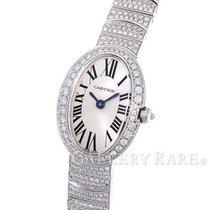 Cartier Mini Baignoire Diamond Bezel Brace White Gold 20.79MM