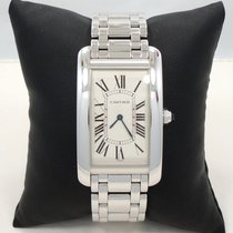 Cartier Tank Americaine Jumbo 18k White Gold Ref# 1738-1 Watch...