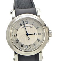 Breguet Marine 5817 Stainless Steel Big Date watch on Rubber...