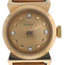 Omega Vintage 18K Rose Yellow Gold Diamond Index Dial Watch