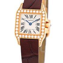 """Cartier Diamond """"Santos Demoiselle"""" Strapwatch."""