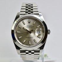 Rolex Datejust 41 126300  Silver Index Jubi Neu