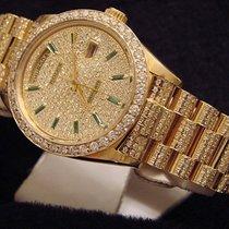 Rolex 18k Gold Day-date President Full Diamond 18038