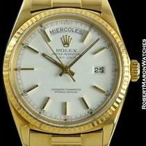 Rolex Day Date 1803 18k White Dial W/ Red Cardinal Numbers 1967