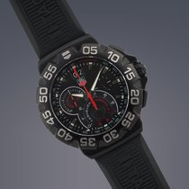 TAG Heuer F1 quartz chronograph PVD steel on rubber strap
