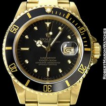 Rolex Submariner Unpolished 18k 16808 Black Nipple Dial