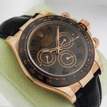 Rolex Daytona 116515 Rose Gold Chocolate Dial Ceramic Bezel Strap
