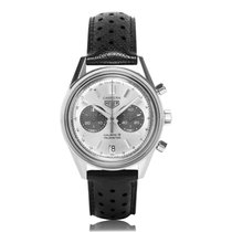 TAG Heuer Carrera Chronograph Stainless Steel Silver Mens...