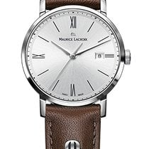 Maurice Lacroix Eliros Date Ladies Silver Dial, Brown Strap