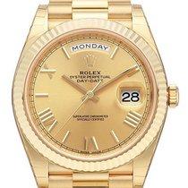 Rolex Day-Date 40 18 kt Gelbgold 228238 Champagner Römisch