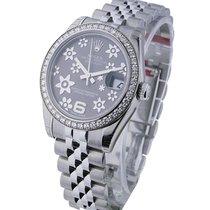 Rolex Unworn 178384 Datejust 31mm in Steel with Diamond Bezel...