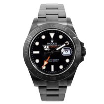 Rolex DLC/PVD 42mm Explorer ll Black Dial - 216570 model