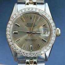 Rolex Midsize Ladies Datejust 6824 2tone Diamond Bezel 31mm...
