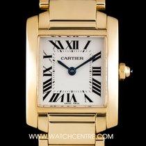 Cartier 18k Y/G Silver Roman Dial Tank Francaise Ladies...
