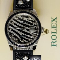 Rolex Datejust 18k White Gold Diamond & Sapphire Watch...
