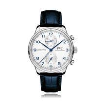 IWC Schaffhausen Portugieser Chronograph Blue Mens Watch IW371446