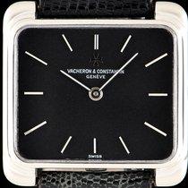 Vacheron Constantin 18k White Gold Black Dial Vintage Gents 2100
