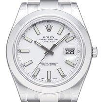 Rolex Datejust II 41mm Stahl Ref. 116300 Weiß Index