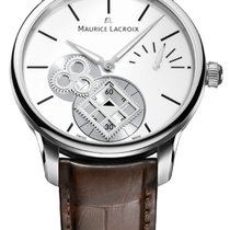 Maurice Lacroix Masterpiece Square Wheel Seconds Crocodile...