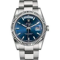 Ρολεξ (Rolex) Day-Date 36 118239-BLUSO Blue Index Fluted White...
