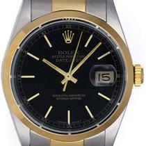 Rolex Datejust Men's 2-Tone Watch Oyster Bracelet 16203...