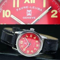 Favre-Leuba Geneve Sea King Winding Red Dial Steel Unisex Watch