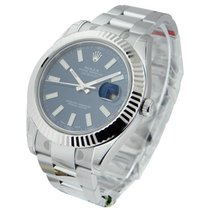 Rolex Unworn 116334blio Datejust II 41mm with White Gold...