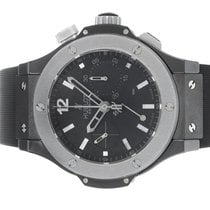Hublot Ice Bang Black Dial Chronograph Ceramic / Titanium